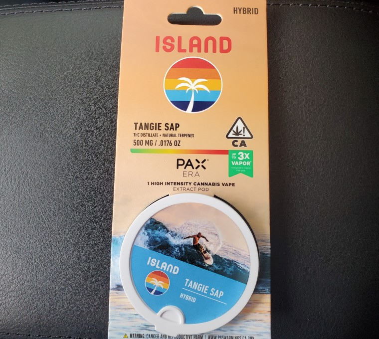 Island Tangie Pax Era Cartridge - Extracts - Purchased from