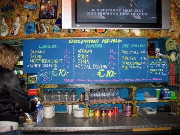 Dolphins Coffee Shop menu