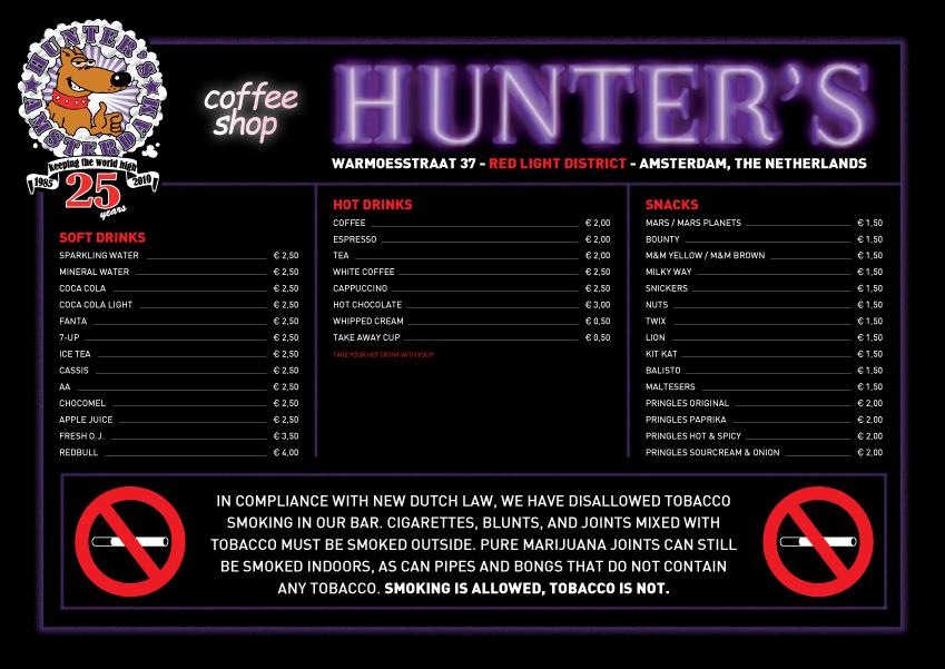 Hunters Bar Coffeeshop Amsterdam