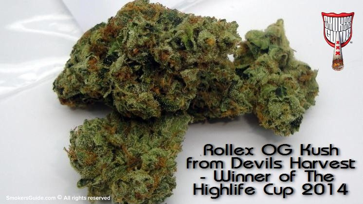 Rollex OG Kush from Devils Harvest - Winner of The Highlife Cup 2014