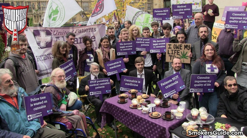 UK To Legalise Medical Cannabis: Patients at Parliament