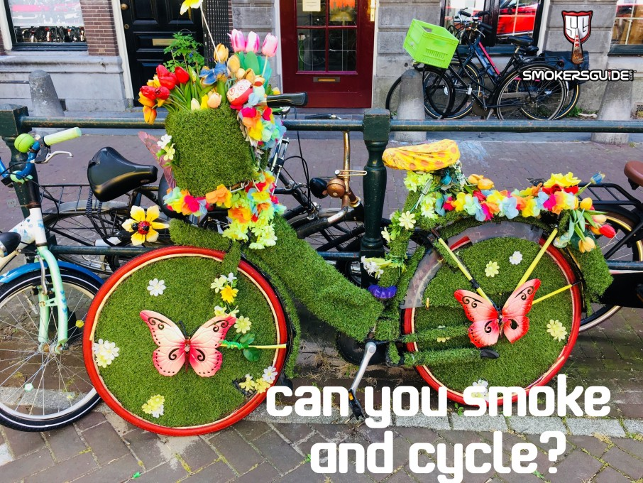 Can you smoke weed and cycle?