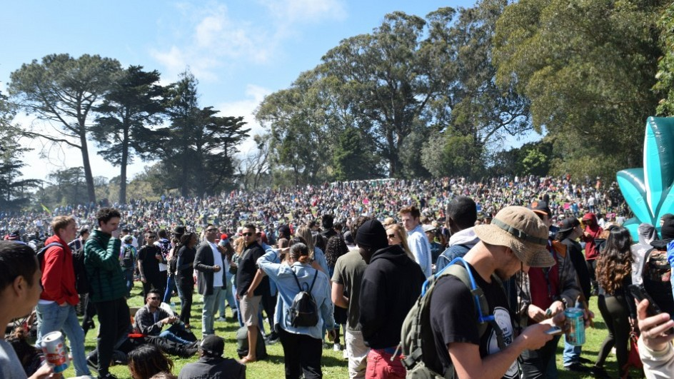 4-20 Party On Hippie Hill in San Francisco
