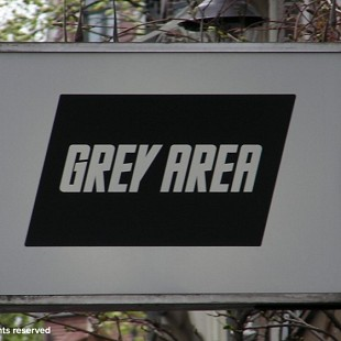 SG Grey Area Coffeeshop Sign