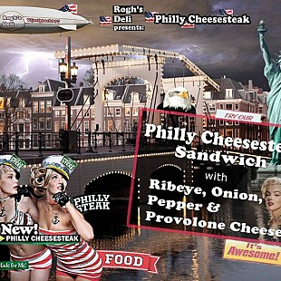 Rogh's Philly Cheese sandwich