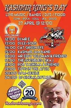 Kashmir King's Day Party 2017